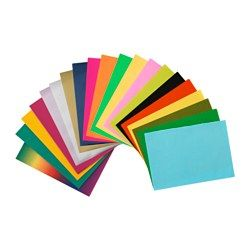 MÅLA Paper decoration set, assorted colors, assorted designs - assorted colors/assorted designs - IKEA