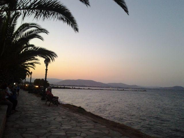 Nea Makri, Marathon, Greece. Beautiful sunset