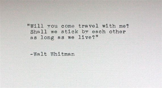 WALT WHITMAN quote typed on a vintage typewriter by InThisRoom