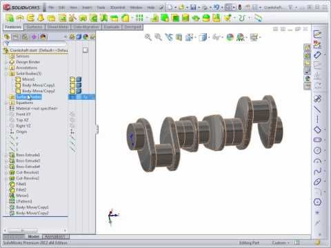 Advanced Solidworks 2012 Tutorial | Patterning and Positioning Bodies - YouTube