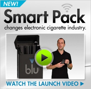 learn more about the blu cigs smart pack that keeps your blu batteries charged while on the go.