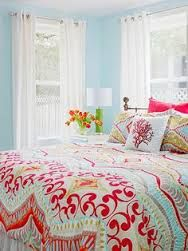 Image result for coral ice blue bedroom