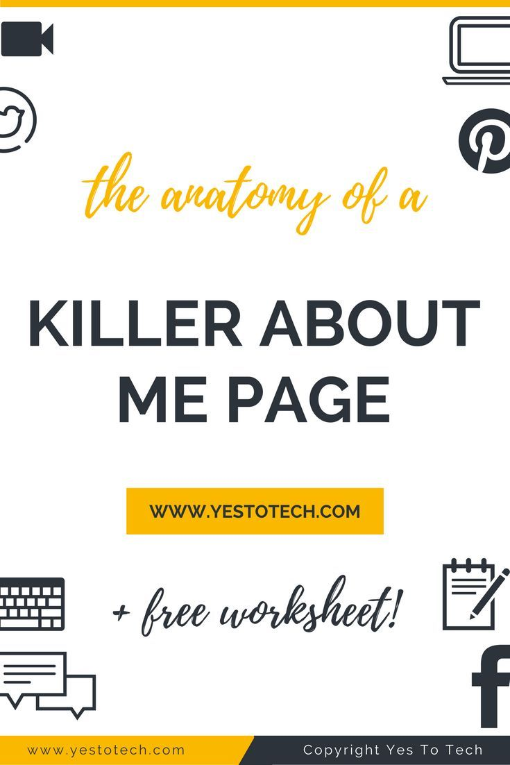 The Anatomy Of A Kickass About Me Page. The About Me page on your website is where your visitors will go to get a taste of 'the face' behind 'the business'. Learn how to write a kickass about me page. about me page   about me page examples   about me page template   about me page for kids   about me page blog   About Me Page / Self Portrait Ideas   About Me Page   About Me Page :: Self Portraits