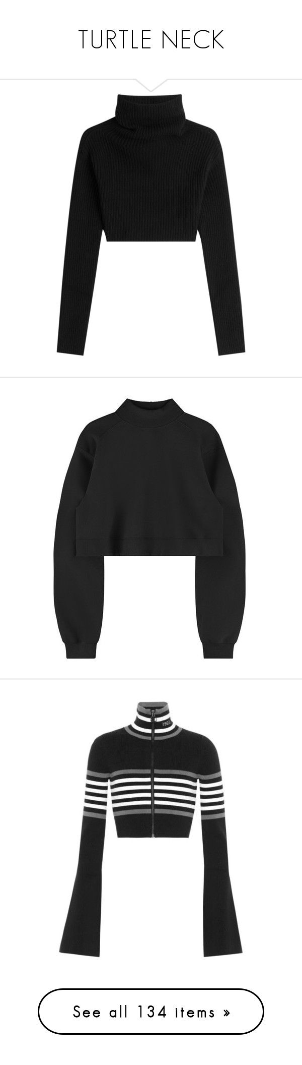 """TURTLE NECK"" by jayda-xx ❤ liked on Polyvore featuring tops, sweaters, crop tops, shirts, black, turtle neck crop top, cropped sweater, turtleneck crop top, cropped turtleneck sweater and fitted shirts"