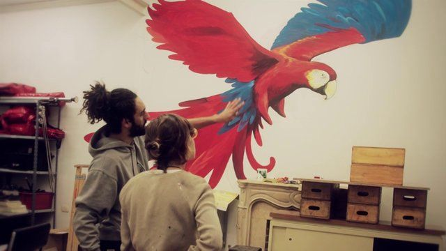 Motion picture de un mural que hice en la oficina de Latino cine, en el 2012. Buenos Aires Argentina