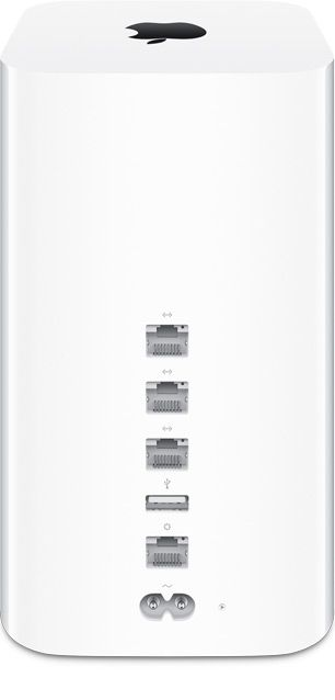 Apple - Mac - AirPortExtreme - The redesigned AirPort Extreme and AirPort Time Capsule base stations feature three-stream 802.11ac Wi-Fi technology with a maximum data rate of 1.3Gbps, almost three times faster than 802.11n.