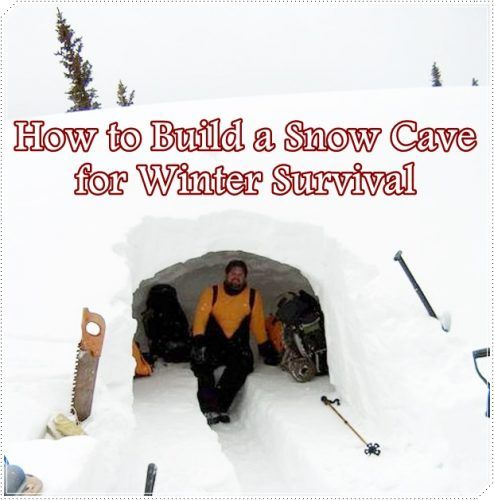How to Build a Snow Cave for Winter Survival Homesteading  - The Homestead Survival .Com