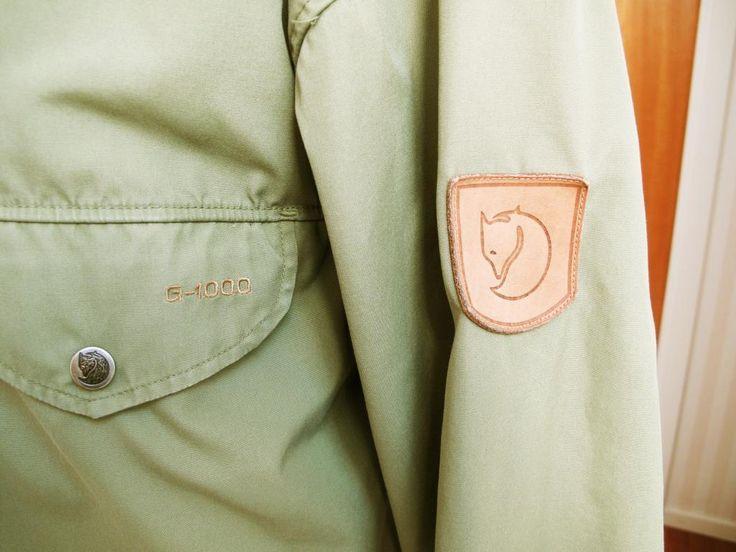 Vintage Fjällräven Greenland Jacka Militärgrön Medium Retro på