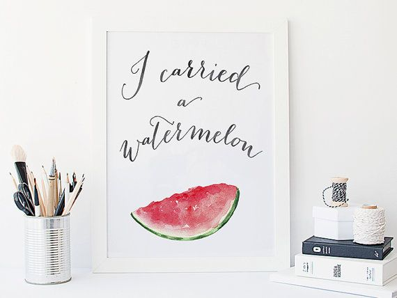 I carried a watermelon print dirty dancing by BeauTypographie