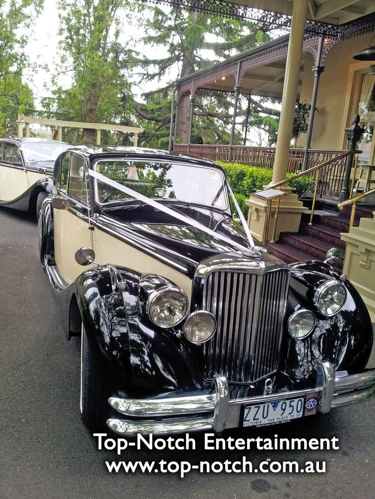 Wedding car at Ascot House Receptions, Ascot Vale, Victoria. www.top-notch.com.au www.facebook.com/WeddingDJTopNotch