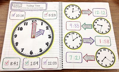 3rd Grade Interactive Math Notebook - Measurement & Data and Geometry at Create●Teach●Share