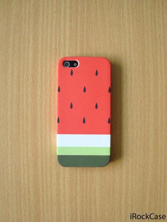 Pastel pastèque rayure iPhone cas pastèque mignon par iRockCase, $19.99