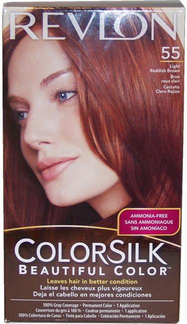 Unisex Revlon colorsilk Beautiful Color #55 Light Reddish Brown Hair Color
