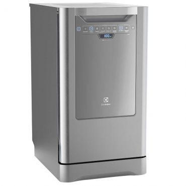 Lava Louças Electrolux Inox com Painel Blue Touch 10 Serviços LI10X. Garante a perfeita lavagem das louças com maior economia de energia. Painel Blue Touch Traz modernidade e beleza à sua cozinha, além de ser super fácil de limpar.