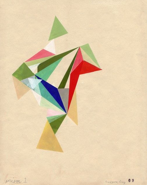 Archival print of MY FIRST PRISM  (on fine cotton etching rag paper)  $25.