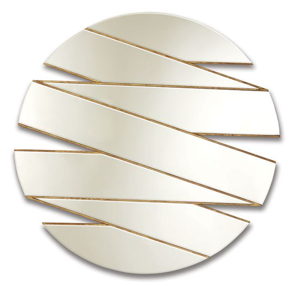 Christopher Guy :: zig zag mirror 50-2899 available in 110diam, 140 or 170 diam.  Looks great against black or dark coloured wall