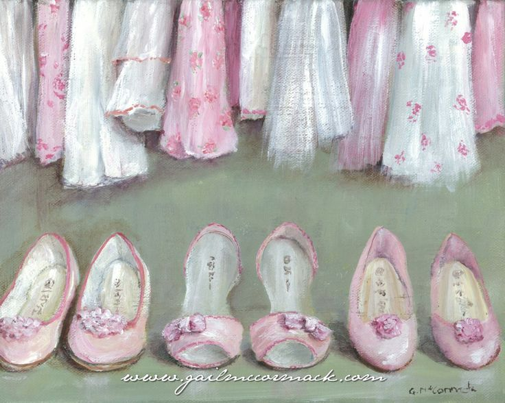 'Inside The Wardrobe' by Gail McCormack. Available as a print at her website.  So sweet for a little girl room that also gives her room to grow into the decor