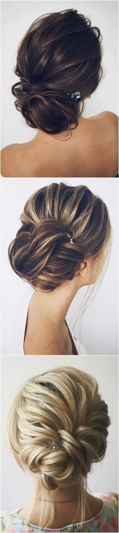 fishtail updo wedding hairstyles with hairpins