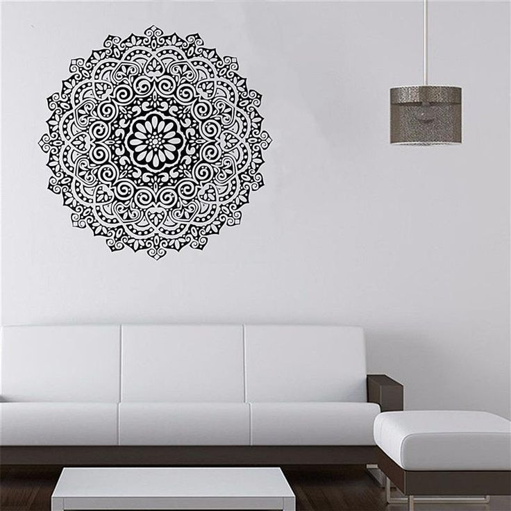 Vinyl Decal Stickers Wall Sticker India Buddhist Art Decorative Room Home Furnishing Mandala Murals 59X59cm-in Wall Stickers from Home & Garden on Aliexpress.com | Alibaba Group
