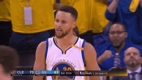 New party member! Tags: happy basketball excited warriors golden state warriors stephen curry pumped curry come on steph curry let's go nba finals having fun Steph cmon gs warriors the finals 2017 nba finals
