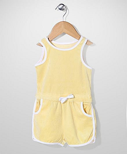 Mothercare Sleeveless Jumpsuit - Yellow http://www.firstcry.com/mothercare/mothercare-sleeveless-jumpsuit-yellow/717957/product-detail?sterm=mothercare