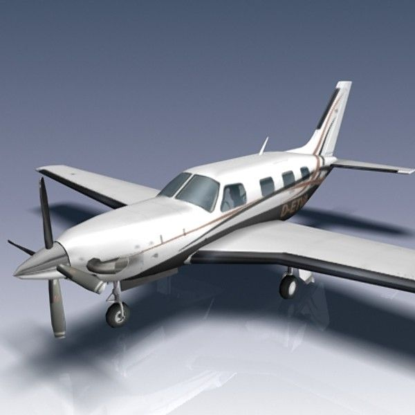 3D Model Piper Pa 46 500 Malibu Meridian - 3D Model