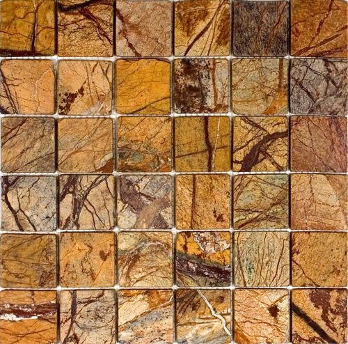 Epoch Tile Rain Forest Brown Tumbled Marble Mosaic Floor