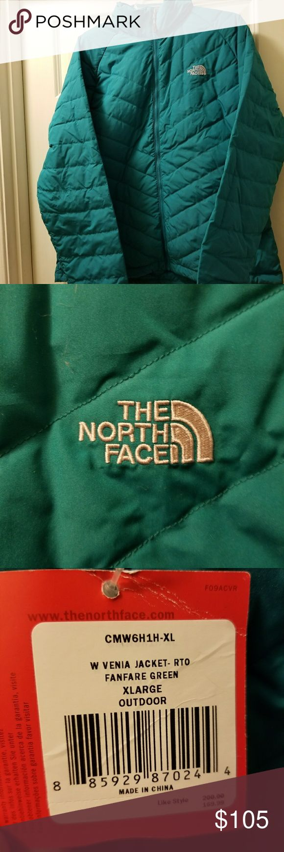 The North Face W Venia Women's Jacket XL Beautiful teal color,  women's XL, NWT, bought from the outlet so there's no warranty. The North Face Jackets & Coats