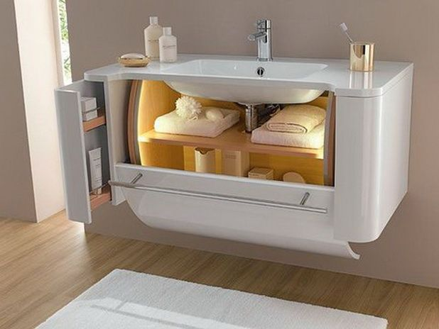 Creative solutions to maximize the bathroom storage for Compact bathroom solutions