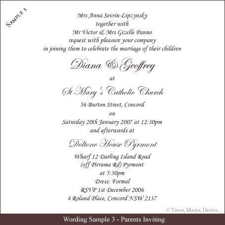 Sample Wedding Invitations Templates Free Wedding Invitation Wording Samples Tr Marriage Invitation Card Wedding Invitation Quotes Wedding Invitation Etiquette