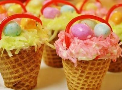 I got this recipe on Incredible Recipes...so unusual and fun to make with the kids.  Take them into you student's school party.  Make them at home and make them when you do your Easter crafts.