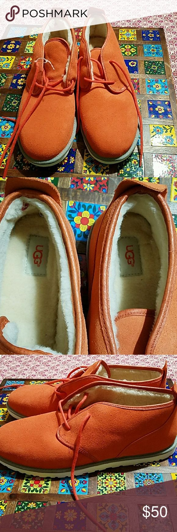UGG MEN'S SHOES ORANGE IN COLOR BRAND NEW WITHOUT TAGS SIZE 15  ALSO SIZE 18 UGG Shoes Chukka Boots
