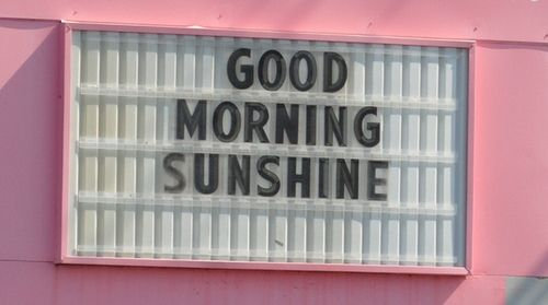 //: Goodmorn Sunshine, Signs, Inspiration, Quotes, Mondays Mornings, Mornings Coff, Pink, Photo, Good Mornings Sunshine