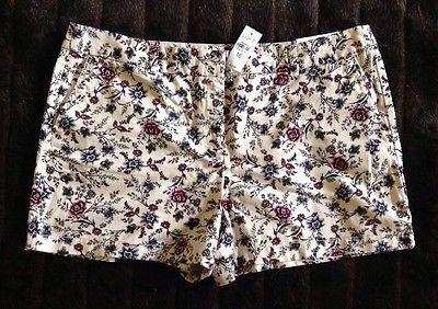 Ann Taylor Loft Women's Floral Shorts Sz 16 NWT / C