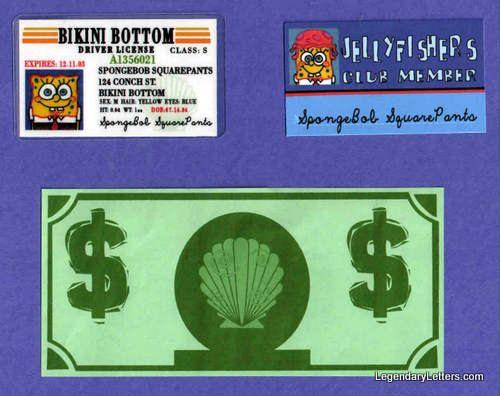 SpongeBob SquarePants Wallet Replica Props / Party Favors