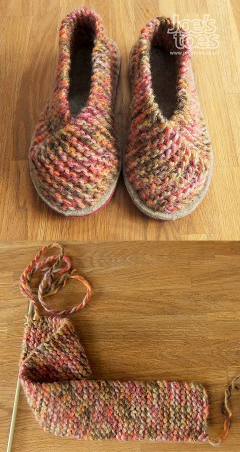 Cross-Over Knitted Slippers - DIY Slippers Projects And Patterns