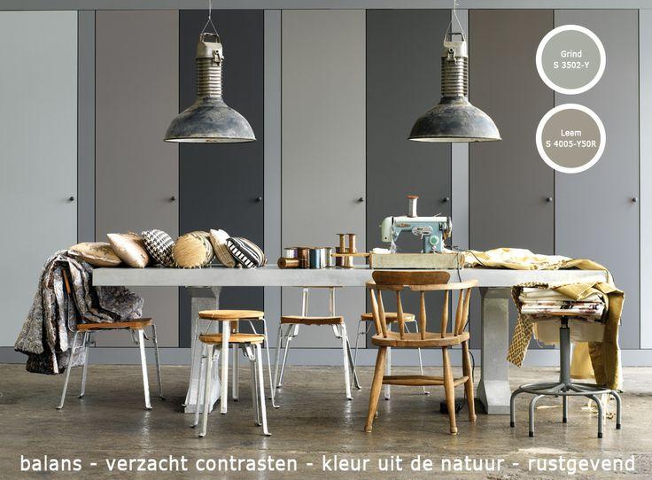 Grijs saai? Zeker niet, grijs brengt balans in je interieur en verzacht contrasten. Combineer diverse grijzen voor een spannend effect. Grijs saai? Zeker niet, grijs brengt balans in je interieur en verzacht contrasten. Combineer diverse grijzen voor een spannend effect.