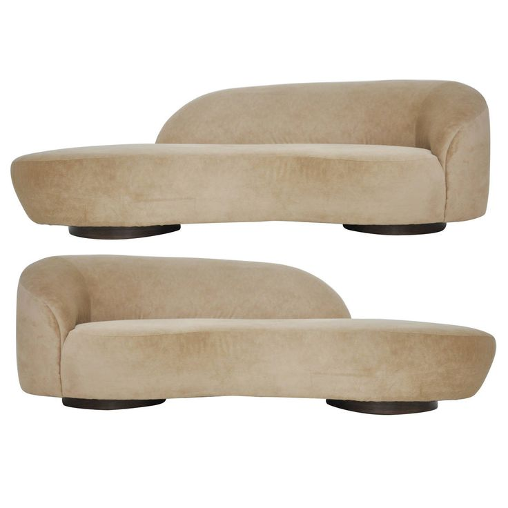 Pair of Vladimir Kagan Serpentine Sofas | From a unique collection of antique and modern sofas at https://www.1stdibs.com/furniture/seating/sofas/