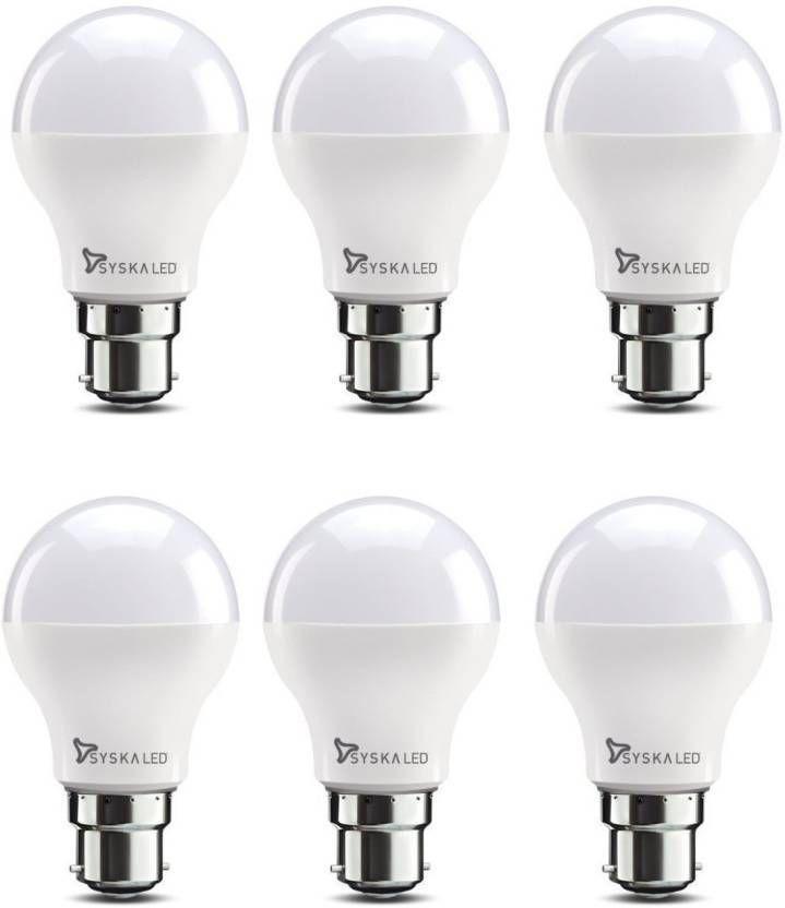 Syska 12w Led Bulb Pack Of 6 Led Bulb Bulb Save Energy