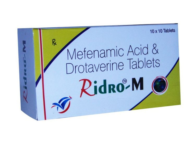 COMPOSITION : DROTAVERINE 80 MG + MEFENAMIC ACID 250 MG