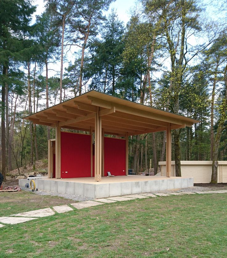 Landesgartenschau 2017 Bad Lippspringe, Germany 'State Garden-Show' Stage / Bühne Constantin von Richter, Chris Schroeer-Heiermann, arch.  Please, pay no attention to the structures to the right. Storage sheds and changing rooms, etc. Not part of the original plan, and certainly not part of ours.