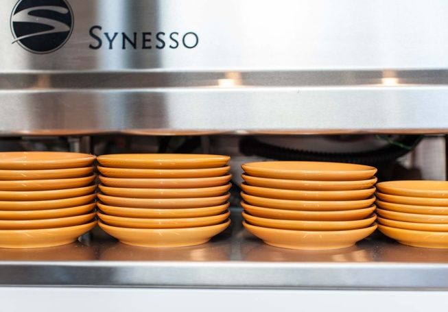 all lined up @briochbyphillip in #vintageyellow #inkercups #sipimports
