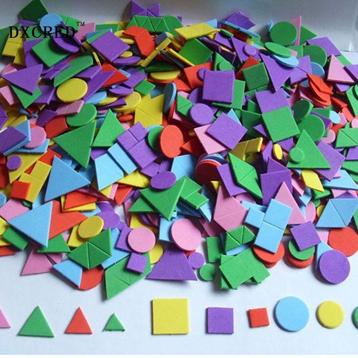 3D Mozaieken Creatieve Sticker Game Arts Craft Puzzel voor Kids EVA Educatief Speelgoed Willekeurige Patroon