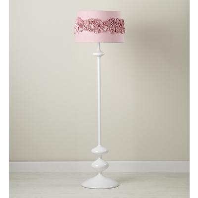 kidsu0027 floor lamps pink ruffled shade in floor lamps 69 shade only