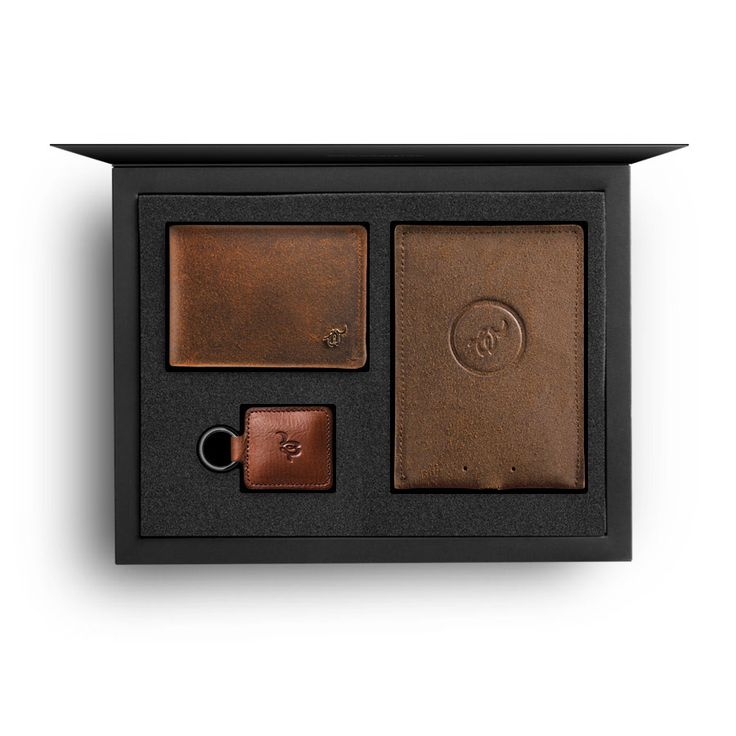 Gift Box Bundle: Woolet with matching Charging Pad and RFiD Blocker