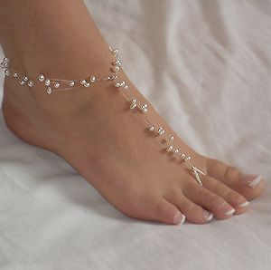 barefoot sandals | Jewels By Michele - Floating Pearls Barefoot Sandals