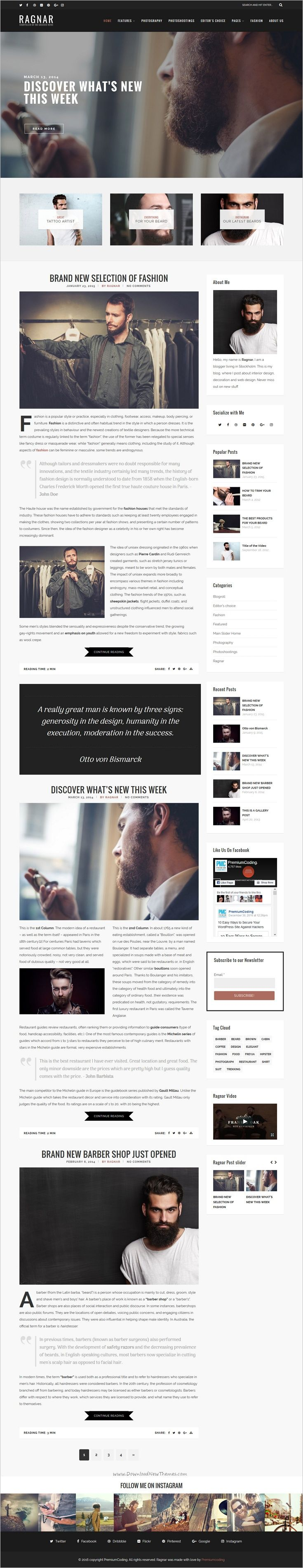 Ragnar is a wonderful responsive bold #WordPress #blog theme for creative #writer, #blogger and storyteller website download now➩ https://themeforest.net/item/ragnar-a-bold-wordpress-blog-theme/19208764?ref=Datasata