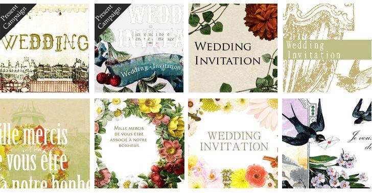 結婚式の招待状に!無料で使えるアンティーク風の招待状ならmikiseabo | WOLCA