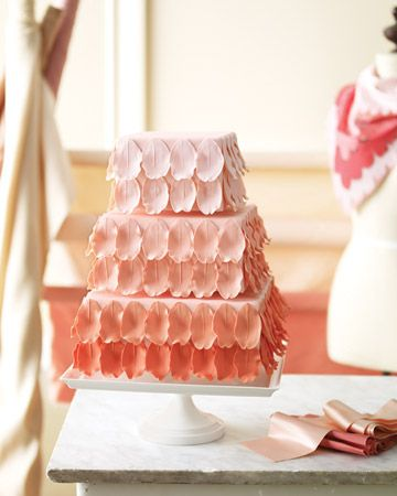 Ombre Wedding Cake with Gum-Paste Petals