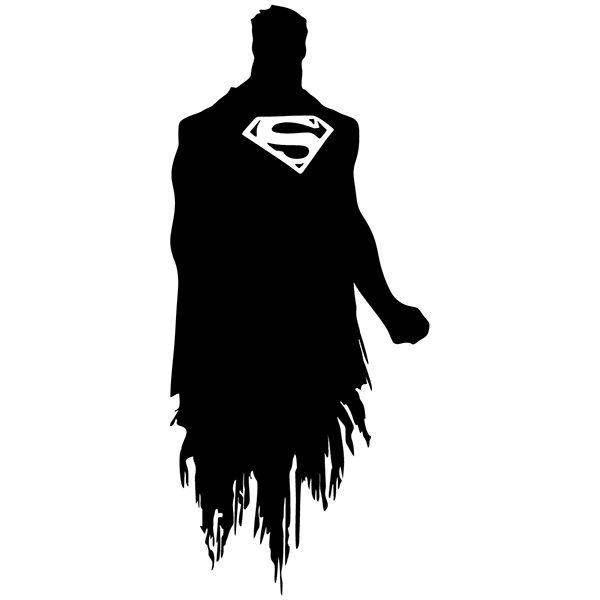Wall Decal Superman Silhouette Muraldecal Com In 2021 Superman Silhouette Superman Tattoos Superhero Wall Art